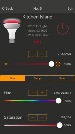 how to set timer for hue lights